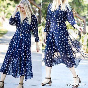 CAbi | #5575 Navy Wrapped Dream Dress 6